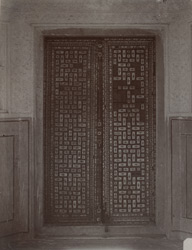 Carved wooden door inlaid with ivory, Amber Palace 10031586